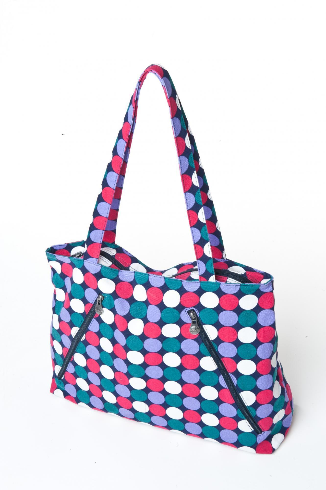 Plážová taška - puntíkovaná