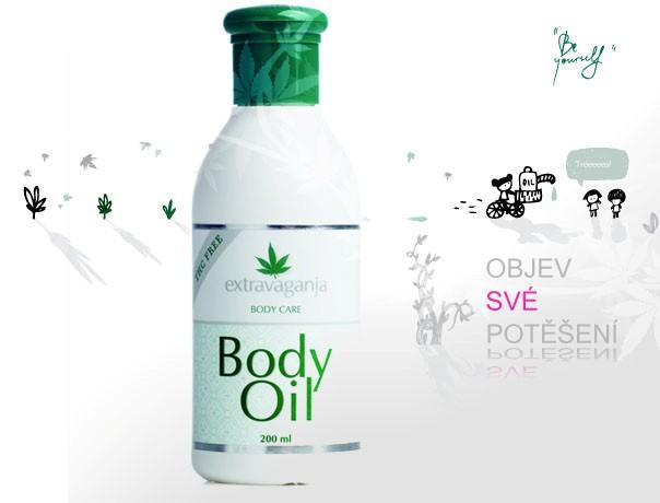 Extravaganja konopný tělový olej 200 ml