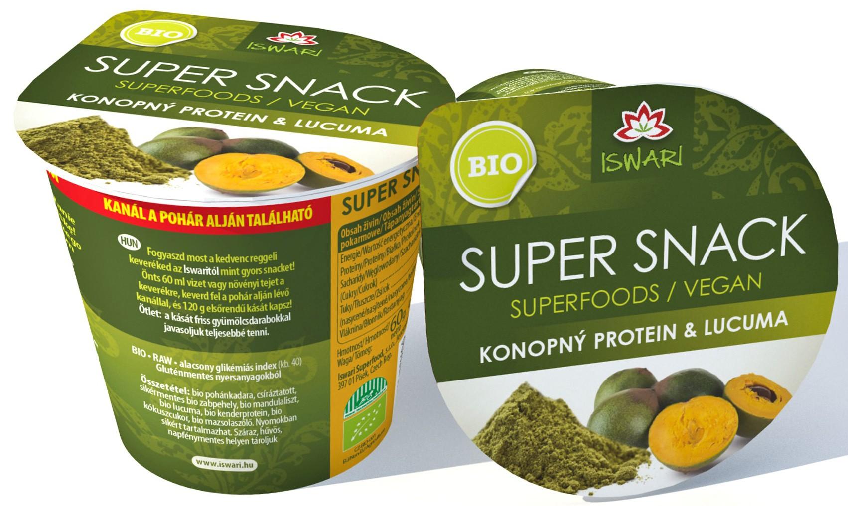 Konopný protein - lucuma 60g - Supersnack
